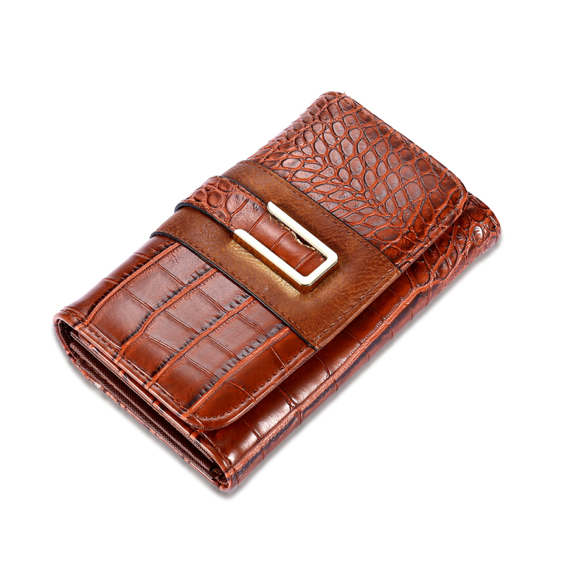 New Fashion Women Wallet Crocodile pattern High Quality Purse for Female Coin Purses Money Card Holders Ladies Buckle Purses  Y3 2017 new ladies purses in europe and america long wallet female cards holders cartoon cat pu wallet coin purses girl