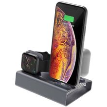 3in1 Aluminum Charge Stand Holder Station Dock Mount for iphone for Apple Watch Series 1/2/3/4 42mm 38mm 40m Airpods 1/2 crested dock station stand for apple watch 4 3 2 1 iwatch 42mm 38mm aluminum holder charger charging cradle bracket high quality