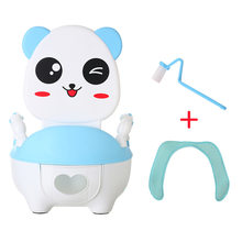 Baby Potty Bowl Cartoon Panda Indoor Backrest Training Toilet seat children's pot kids bedpan portable urinal cartoon cute pot(China)
