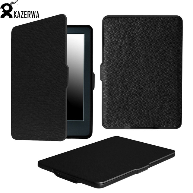 huge discount 7bdbd 9c344 US $9.12 | Case For Amazon Kindle 8 8th Generation 2016 Leather Stand Smart  Case Cover For New kindle 8 2016 para e Book Cases +Pen-in Tablets & ...
