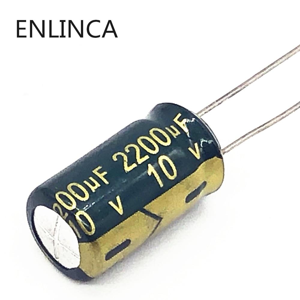 10pcs/lot 10V 2200UF  10*17 Aluminum Electrolytic Capacitor Size 10X17mm 2200UF 10v 20%