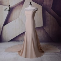 LORIE Long Evening Dresses Special Occasion Champagne Mermaid Prom Gowns For Women mother of the bride Long Party Dresses