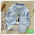 2016 children's spring and autumn clothing male child 100% stripe cotton shirt child long-sleeve shirt infant boys top