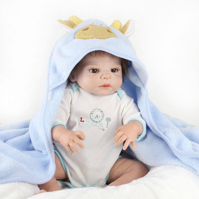 55cm DOLLMAI Doll Reborn Babies body silicone Vinyl alive BeBe Reborn boy Toys For Girls Birthday surprise Doll Play house Gift