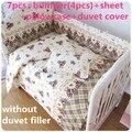 Desconto! 6 / 7 pcs cama de bebê berço do bebê berço cama definir 100% algodão recém-nascido, 120 * 60 / 120 * 70 cm