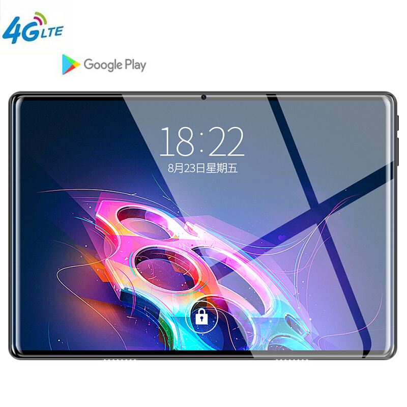 10.1' tablet Google store Octa Core 6GB RAM 64GB ROM 3G 4G LTE Android 9.0 Tablet GPS WIFI 1280 800 IPS Tablet Pad Glass Shell