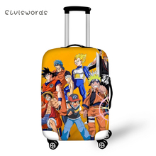 ELVISWORDS DragonBall Naruto Travel Luggage Cover Cool Cartoon for Girls Boys Suitcase Protective High Elasticity Case