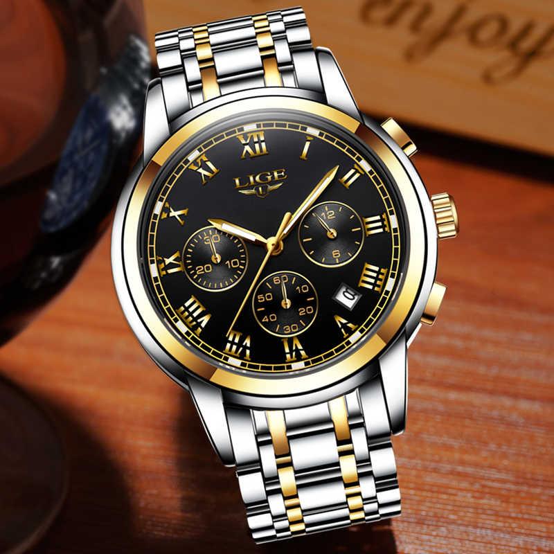 Relogio Masculino Luik Horloge Mannen Mode Sport Quartz Klok Heren Horloges Top Brand Luxe Volledige Steel Zaken Waterdicht Horloge