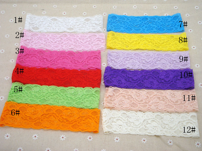 Promotion 2 Wide Elastic Lace Headband Baby Girls Diy Hair Band