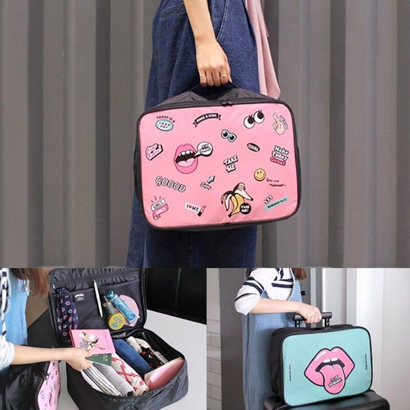 2019 New Travel Cosmetic Bag Large Capacity Cases Printing Graffiti Storage Bags Cartoon Waterproof  Organizer Make Up Cases