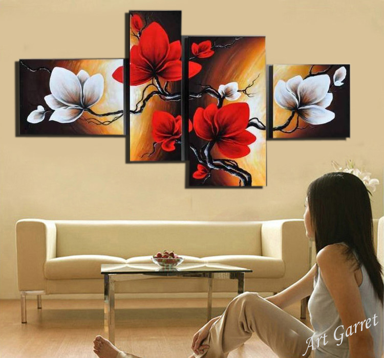 Hand painted Abstract oil painting Modern art Decorative Wall art ...