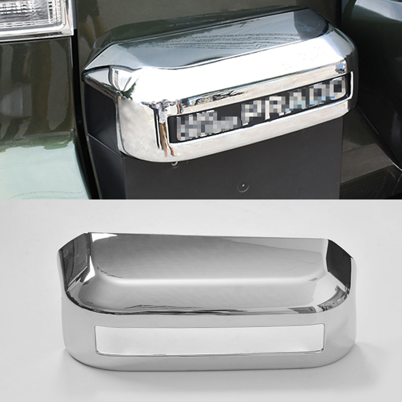 2016 ABS Car Styling Car Trunk Handle Frame Sequins For Toyota Prado Car Accessories Decoration Sequins lsrtw2017 car styling car trunk trims for honda crv 2017 2018 5th generation
