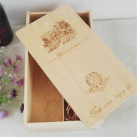 Double Impulse Direct Manufacturers Only Pull Pine Wood Box Gift Box Wine General Logo