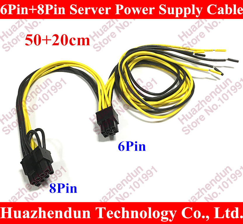100~300PCS Free DHL/EMS 6Pin+8Pin Server Power Supply Cable For DELL2950 2850 1470W 6pin+8pin Semi Product Cable 6 p +8 p 18AWG free dhl ems 6pin 8pin server power supply cable for dell2950 2850 1470w 6pin 8pin semi product cable 6 p 8 p 18awg