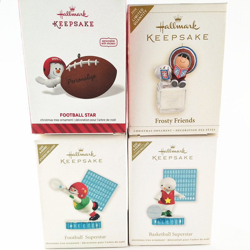 1piece Original SNOW MAN FOOTBALL STAR BASKETBALL STAR FROSTY FRIENDS Action Figure christmas tree ornament toys