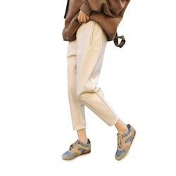 Harajuku классические женские шаровары осень и зима толстые теплые шерстяные брюки плюс размер свободные повседневные брюки Британский стиль
