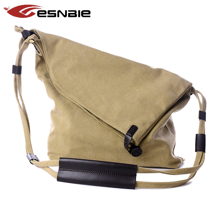 New Women Messenger Bags Female Canvas Vintage Shoulder Bag Ladies Crossbody Bag