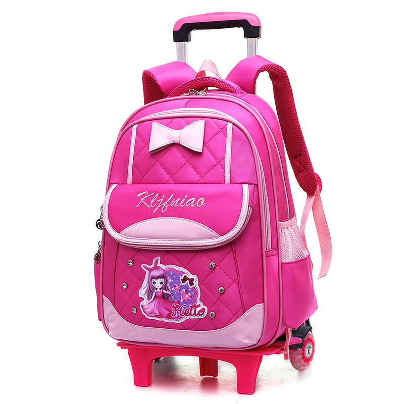 Hot brand girl rolling Trolley case kids schoolbag travel luggage Cartoon students suitcase Climbing stairs children backpackHot brand girl rolling Trolley case kids schoolbag travel luggage Cartoon students suitcase Climbing stairs children backpack
