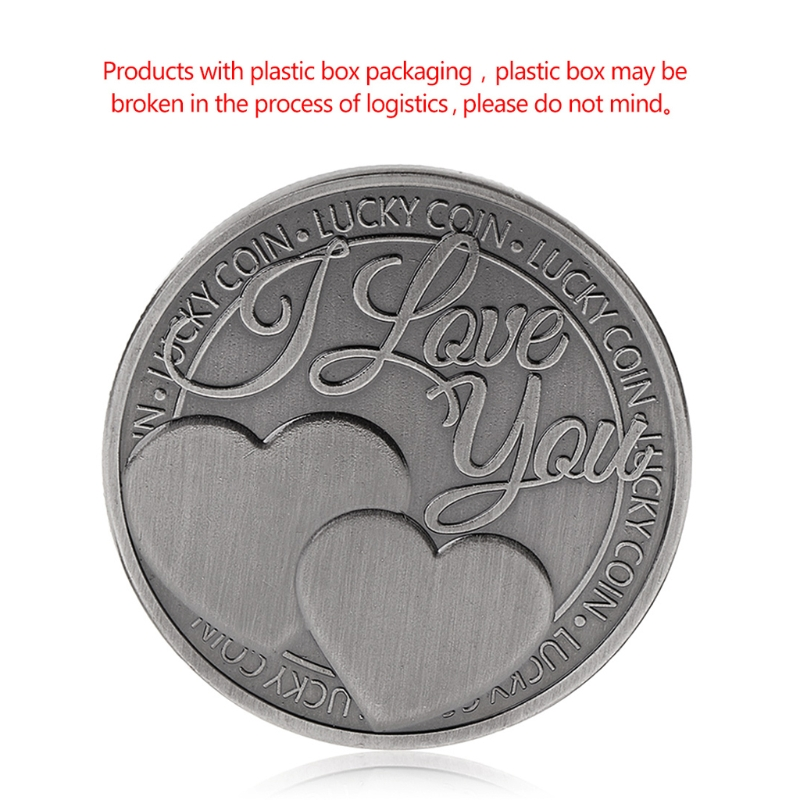 Couple Collection Art Gifts Souvenir Lucky Coin Commemorative Coin Lucky Love Words Romance    (China)