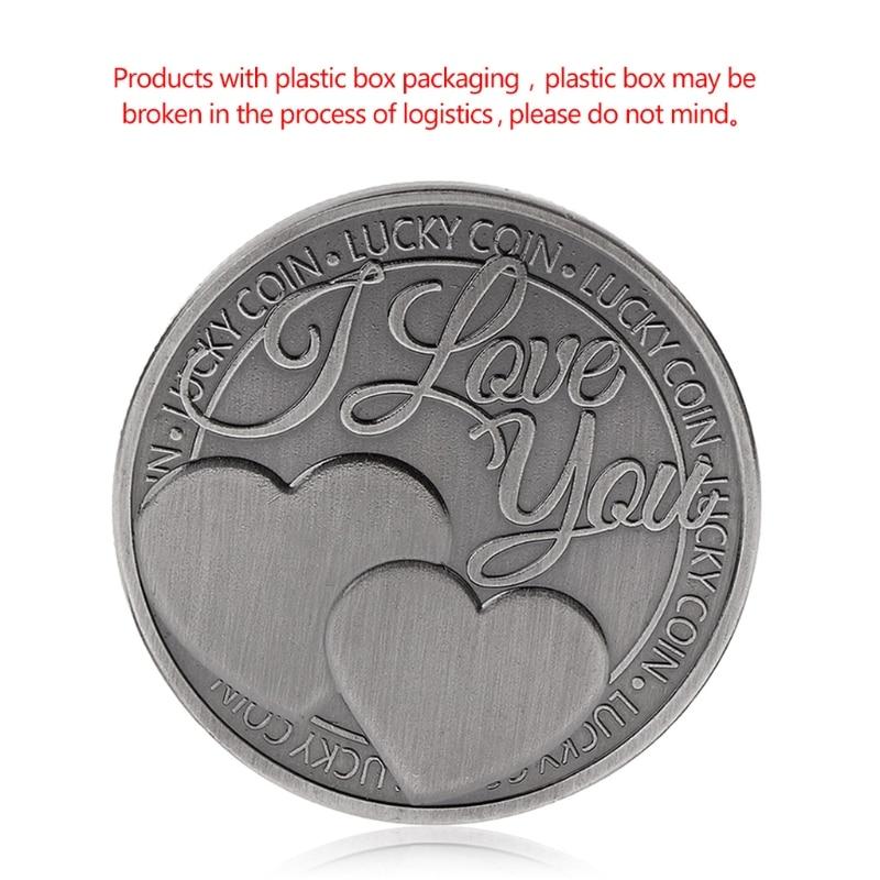 Commemorative-Coin Souvenir Collection Lucky-Coin Love Words Art-Gifts Romance Couple