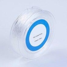 1 рулон белый эластичный шнур для бисероплетения со стразами, волоконный шнур, веревка 0,5/0,6/0,7/0,8/1/1.2/1 мм, искусственное ожерелье для браслета