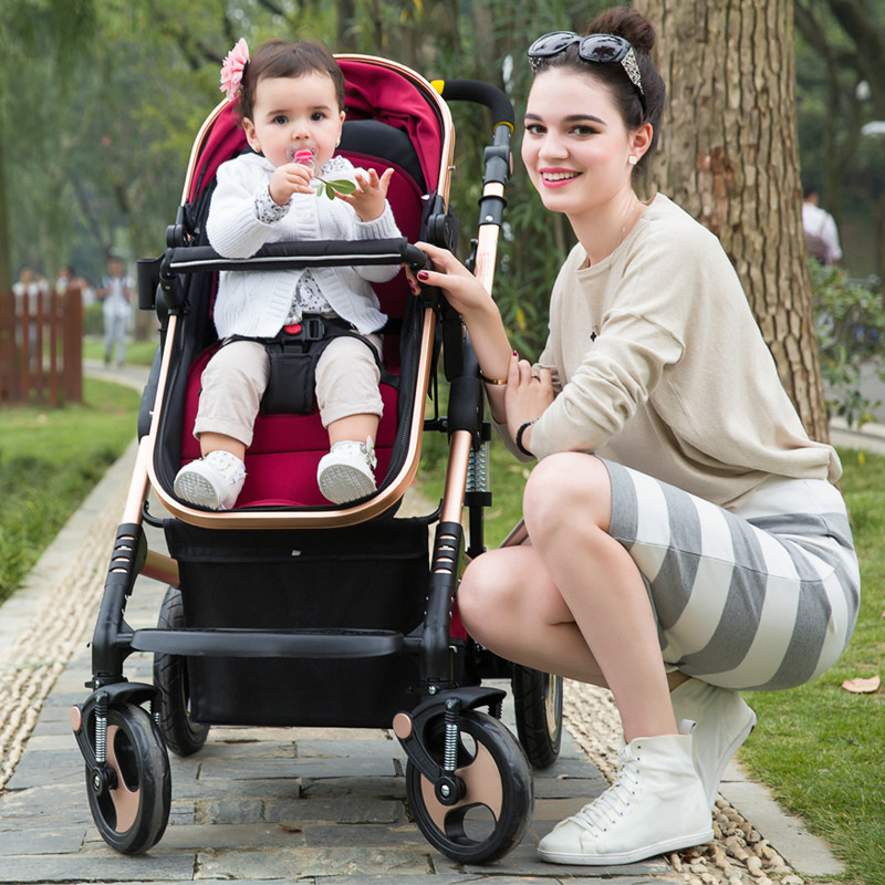 Lightweight Baby Stroller Portable Sunshade Baby Cart High Landscape Universal Shockproof Folding Baby Pram Lying Baby Carriage folding baby stroller lightweight baby prams for newborns high landscape portable baby carriage sitting lying 2 in 1
