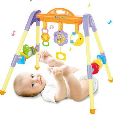 Puzzle baby fitness racks toys baby early education toys fitness rack children's fitness game pad puzzle multifunctional piano baby early education music hand drums intelligent piano toys