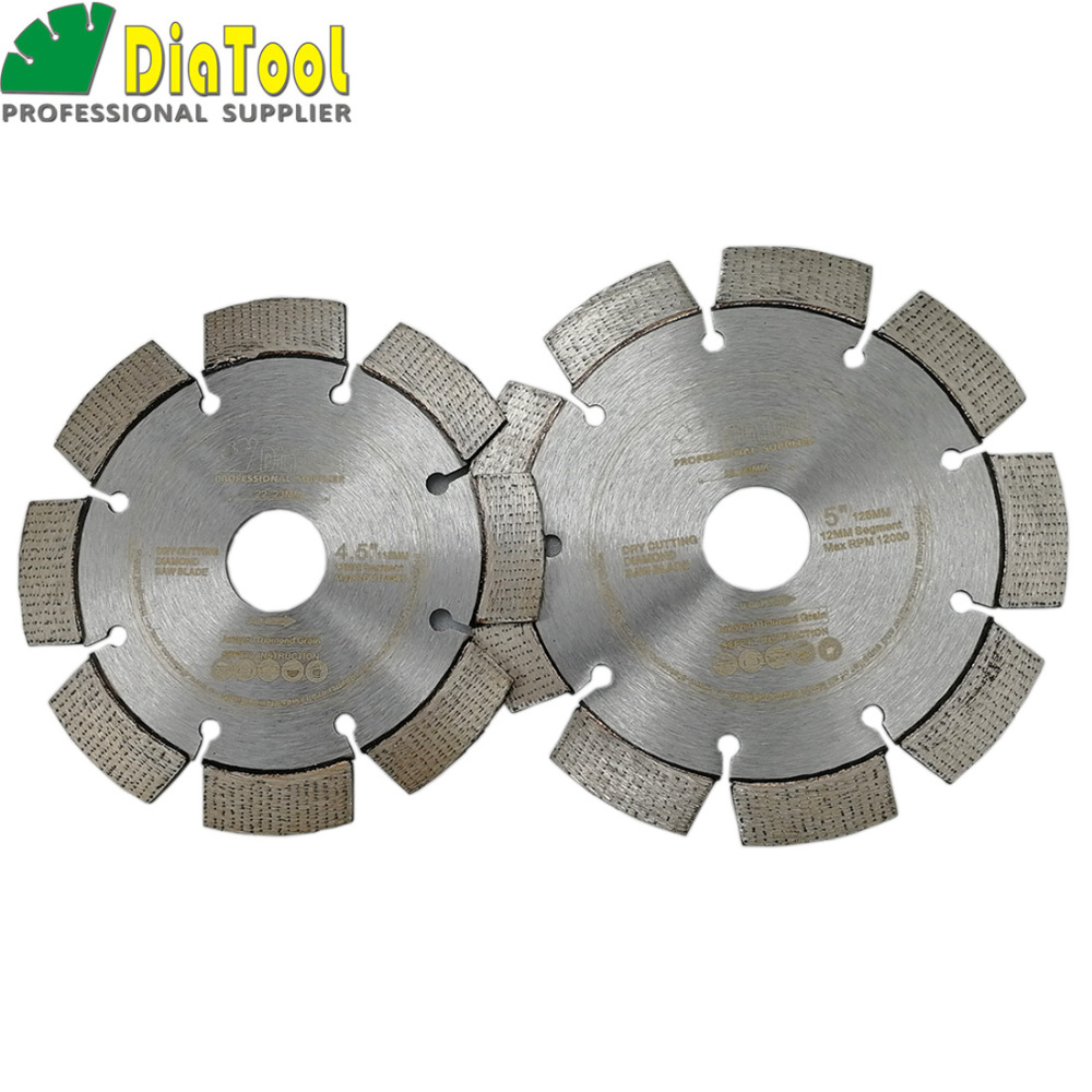 DIATOOL Premium Quality Laser Welded Diamond Saw Blade Arrayed Design Cutting Disc Hard Material Diameter 115MM 125MM
