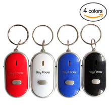 Mini Anti-lost Whistle Key Finder Flashing Beeping Remote Kids Key Bag Wallet Locators Child Alarm Reminder Drop Shipping
