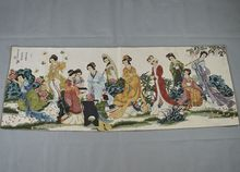 лучшая цена TNUKK  Embroidery Chinese style decoration handmade silk painting 160x60cm wall decoration painting can be collected.