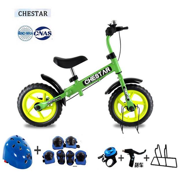 Alta Calidad CHESTAR 12 Pulgadas Balance Bebé Bicicleta Con Freno Y Marco De Acero de Alto Carbono Y Rueda De EVA, Certificación SG, 8 color