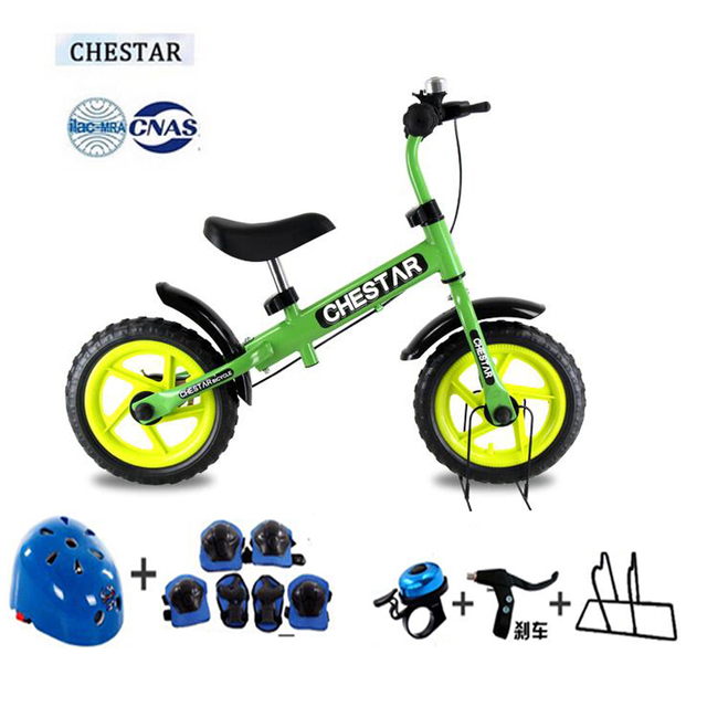 High Quality CHESTAR 12 Inch Baby Balance Bike With Brake And High Carbon Steel Frame And EVA Wheel, SG Certification,8 color