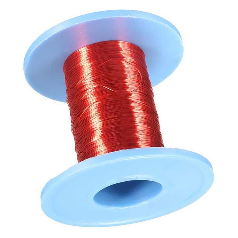 Enrolamento magnético da bobina do fio de cobre esmaltado do fio 100mm qa do ímã vermelho de 0.2m para a fatura elétrica do eletroímã de diy da máquina