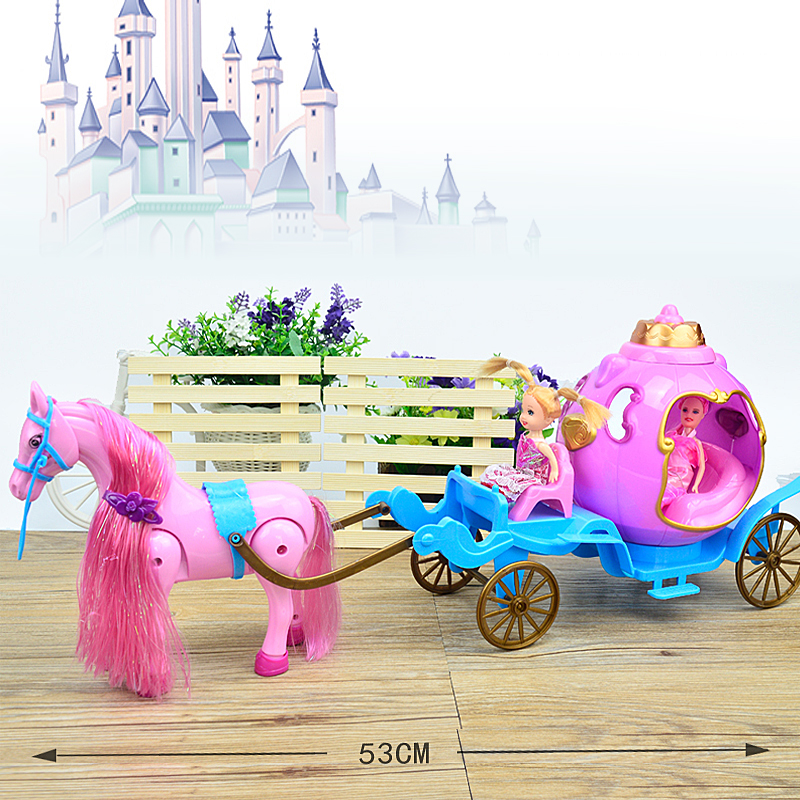 53cm New Girl Doll Toys Electric Horse Carriage Birthdays Girl Gifts For Kids Toys For Children