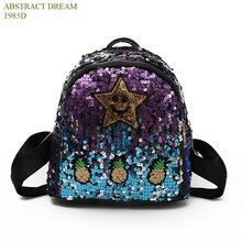 0c8bab8b9c1be Yeni marka yıldız yıldız tarzı, büyük kapasiteli çanta, ısı moda lazer  yansıtıcı sırt çantası