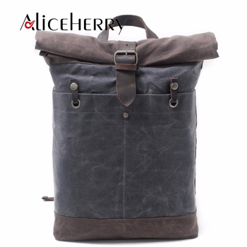 Fashion men's backpack vintage canvas backpack school bag men's travel bags large capacity travel laptop waterproof backpack bag