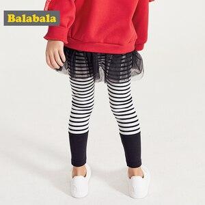 Image 4 - Balabala Kinderkleding Meisjes Leggings Lente 2019 Nieuwe Kinderen Baby Broek Broek Koreaanse Versie Katoen