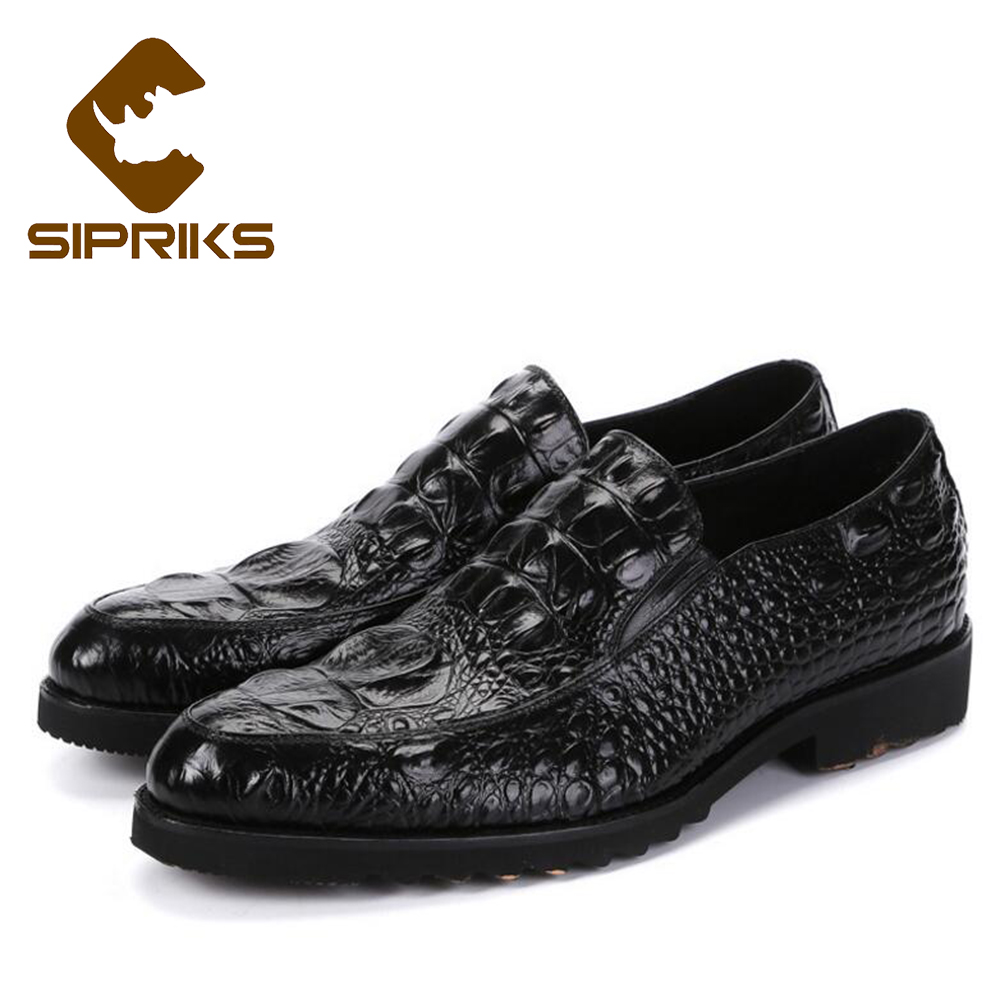 Sipriks Genuine Leather Loafers Mens Crocodile Skin Loafer ...