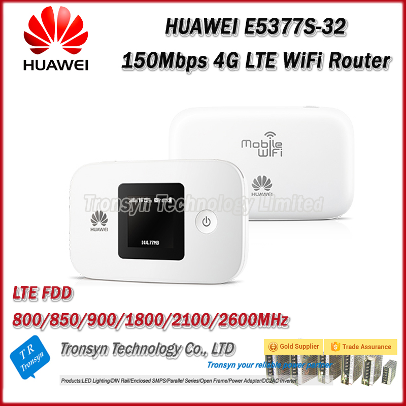 Galleria fotografica Originale unlock 150 mbps <font><b>huawei</b></font> e5377 portable 4g wifi router con Sim Card Slot E 1.45 Pollice Schermo LCD Con 1750 mAh batteria