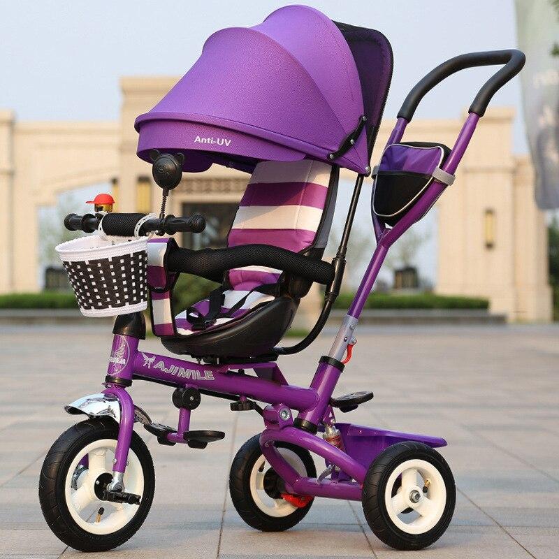 Wózek dla dziecka 3 w 1 składane trójkołowe rowery dla dzieci - Aktywność i sprzęt dla dzieci - Zdjęcie 4
