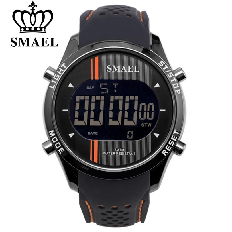 Relojes digitales SMAEL LED para hombre, reloj deportivo para hombre, relojes inteligentes, reloj de pulsera electrónico para hombre con fecha automática, envío gratuito