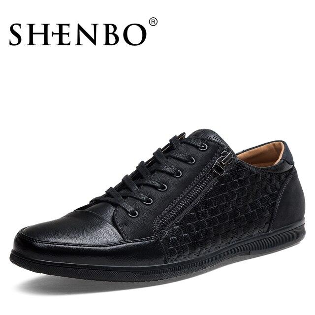SHENBO - Zapatos de cordones para hombre negro negro, color negro, talla 44