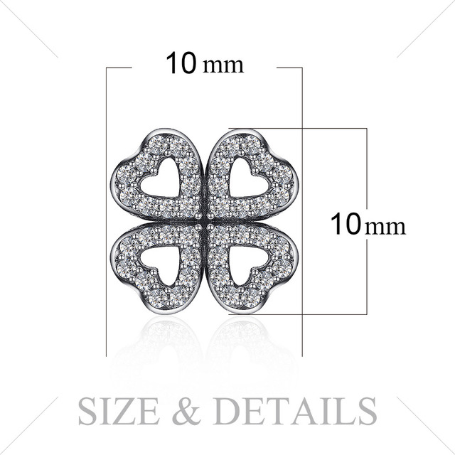 Jewelrypalace 925 Sterling Silver Openwork Dazzling Clovers Stud Earrings Gifts For Women Anniversary Gifts Fashion Jewelry New
