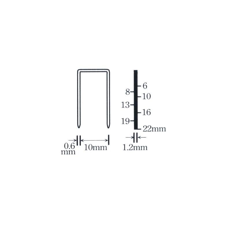 2000 unids 1022j Clavos para enmarcar grapadora eléctrica Clavos ...
