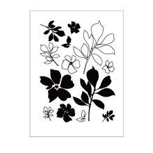 1 шт. цветок и лист DIY силиконовый прозрачный штамп цепляется печать тиснение для скрапбукинга альбом декор художественные ремесла