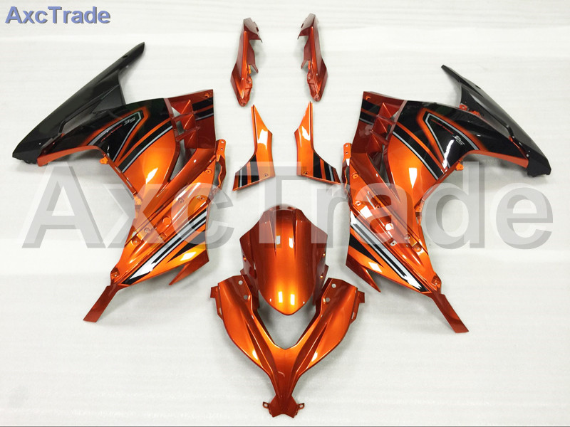 Motorcycle Fairings For Kawasaki Ninja 300 ZX300 EX300 2013 2014 13 14 ABS Plastic Injection Fairing Bodywork Kit Orange Black