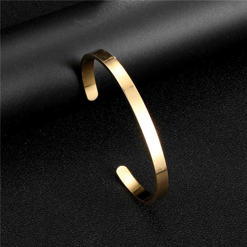 CANNER להמשיך השראה צמידי נירוסטה צמיד לנשים גברים רוז זהב צבע צמיד Jonc מתנה R4