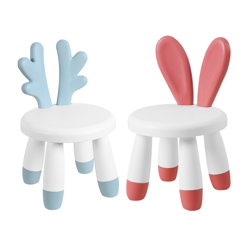 Cartoon:  Baby stool kindergarten cartoon back seat child thick plastic stool baby home children's chair kids chair furniture - Martin's & Co