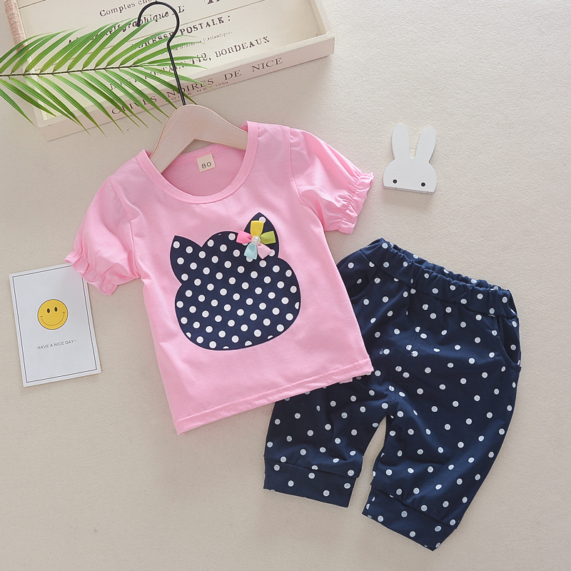 BibiCola 2019 Child Woman Clothes Set Summer time Dot Floral Shorts+Pant 2PCS Youngsters Garments for Women Outfit Set Toddler Woman Garments Clothes Units, Low-cost Clothes Units, BibiCola 2019 Child...