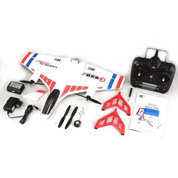 XK X520 RC 6CH 3D/6G RC Airplane VTOL Vertical Takeoff Land Delta Wing RC Drone Fixed Wing Plane Toy with Mode Switch LED Light